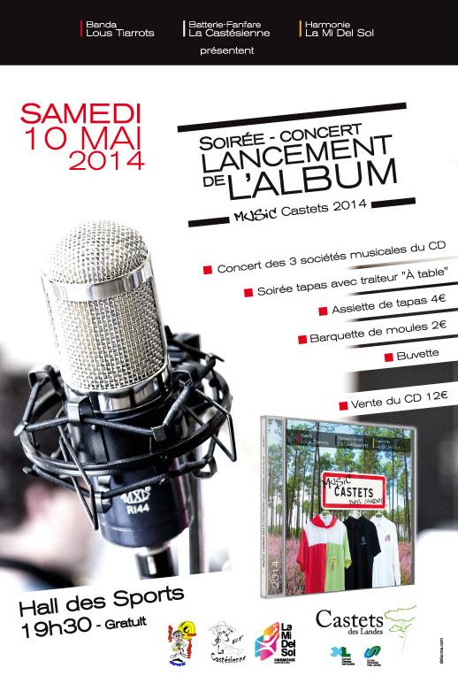 Soirée conerts Lancement album Music Castets 2014