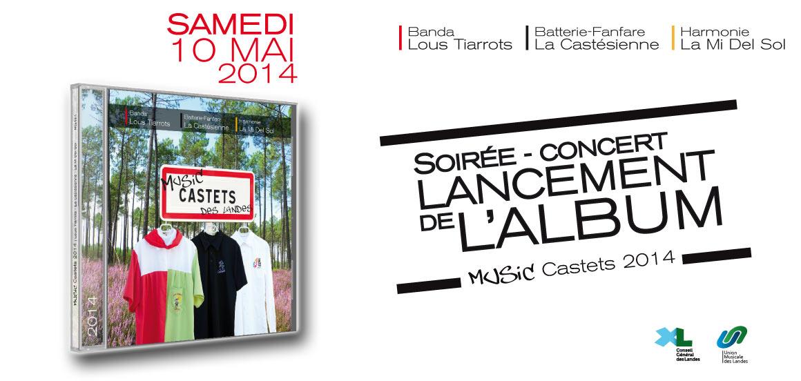 Soirée conert Lancement album Music Castets 2014