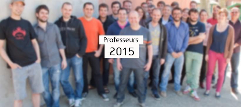 L'équipe pédagogique 2015