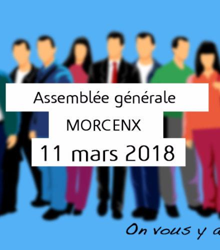 Assemblée générale ordinaire le 11 mars 2018 à Morcenx