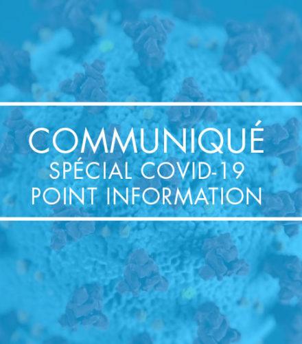 Spécial COVID-19, point information #8 décret du 31 mai 2020